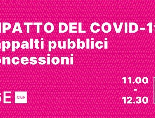 """""""L'impatto del COVID-19 su appalti pubblici  concessioni"""": il webinar gratuito"""