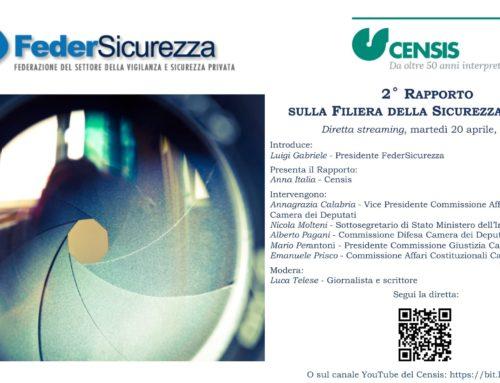 La presentazione del II Rapporto Censis-Federsicurezza sulla Filiera della Sicurezza in Italia